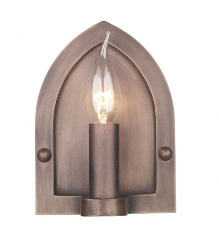 Lindisfarne Wall Light Copper LW864 (Class 2 Double Insulated)